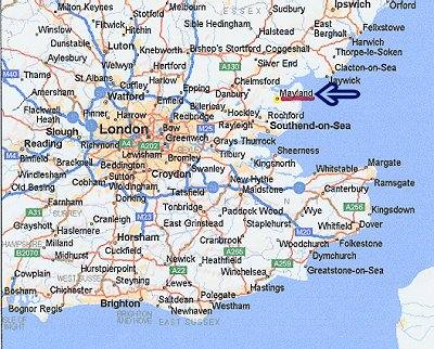 Map England South Coast  London Map